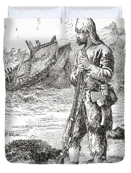 Robinson Crusoe On The Desert Island Duvet Cover