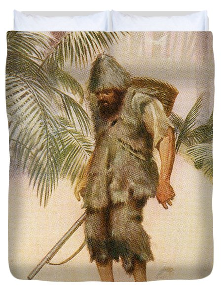 Robinson Crusoe Sees A Footprint In The Duvet Cover