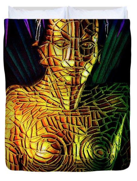 Robot Of Metropolis Duvet Cover