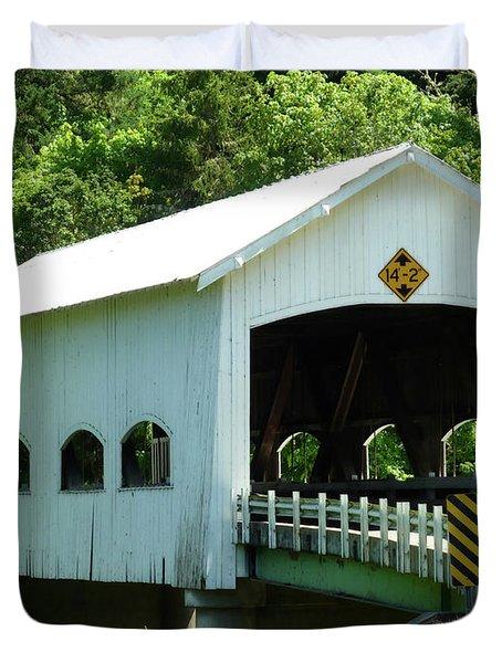 Rochester Bridge Duvet Cover by Methune Hively