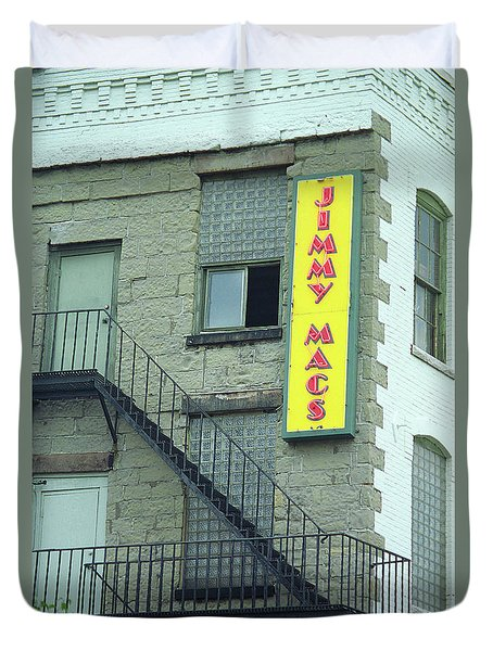 Duvet Cover featuring the photograph Rochester, New York - Jimmy Mac's Bar 2 by Frank Romeo