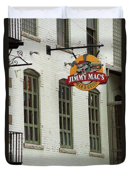 Duvet Cover featuring the photograph Rochester, New York - Jimmy Mac's Bar 3 by Frank Romeo