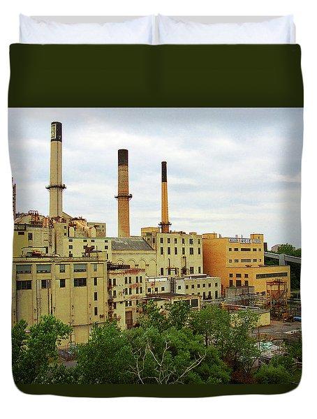 Rochester, Ny - Factory And Smokestacks 2005 Duvet Cover by Frank Romeo