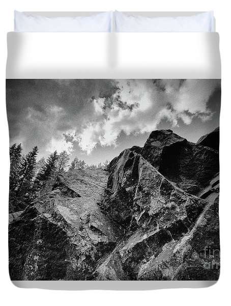 Rock #9542 Bw Version Duvet Cover