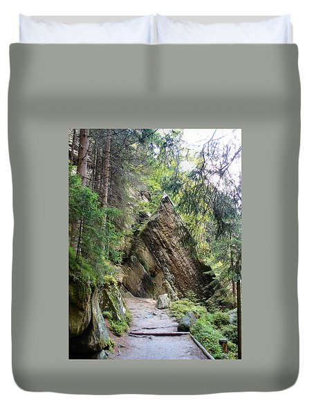 Rock And A Hard Place Duvet Cover by Dana Patterson