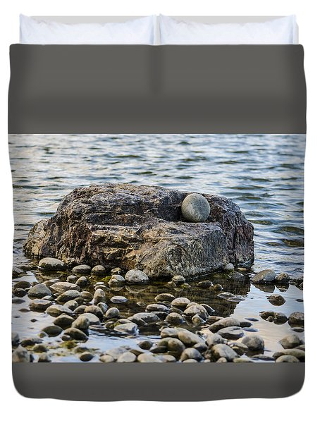 Duvet Cover featuring the photograph Rock And Roll by Deborah Smolinske
