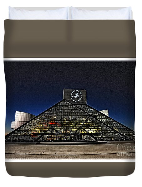 Duvet Cover featuring the photograph Rock And Roll Hall Of Fame - Cleveland Ohio - 5 by Mark Madere
