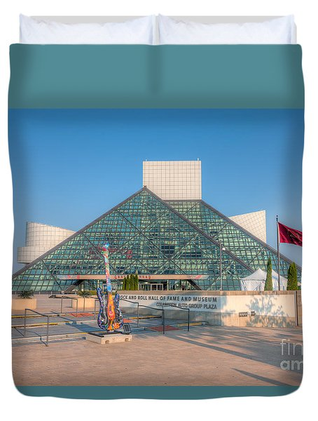 Rock And Roll Hall Of Fame I Duvet Cover by Clarence Holmes