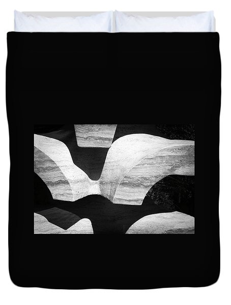Rock And Shadow Duvet Cover