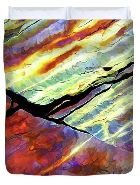 Duvet Cover featuring the photograph Rock Art 16 by ABeautifulSky Photography