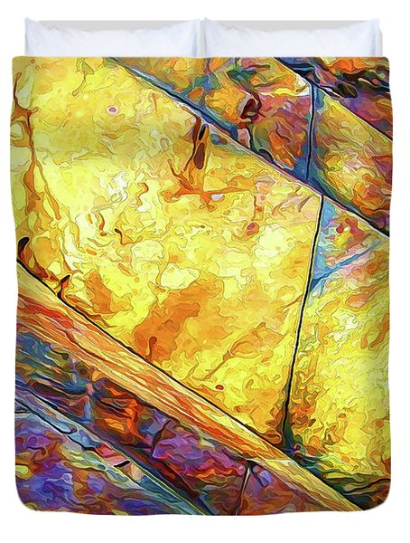 Duvet Cover featuring the photograph Rock Art 23 by ABeautifulSky Photography