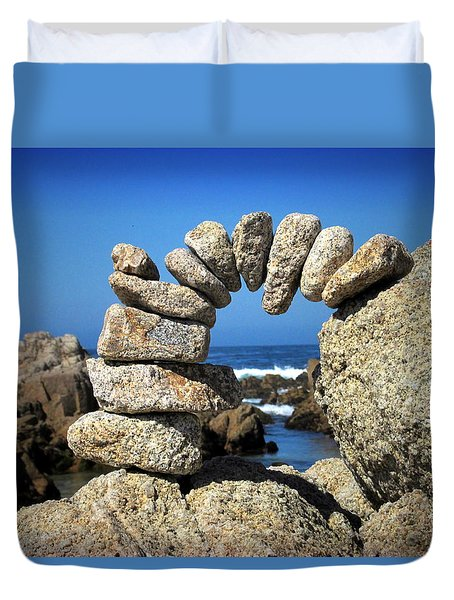 Rock Art One Duvet Cover by Joyce Dickens