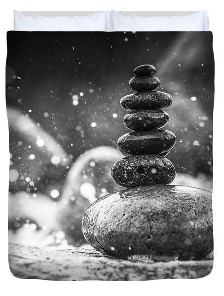 Rock Balance Duvet Cover