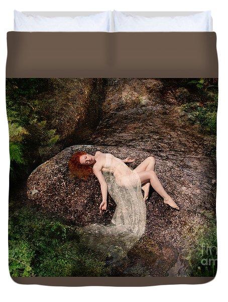 Rock Bathing Duvet Cover