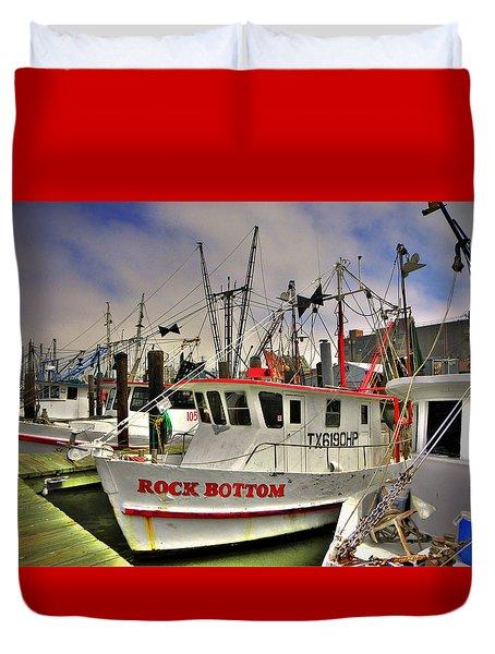 Duvet Cover featuring the photograph Rock Bottom by Savannah Gibbs