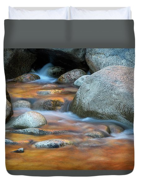 Rock Cave Reflection Nh Duvet Cover