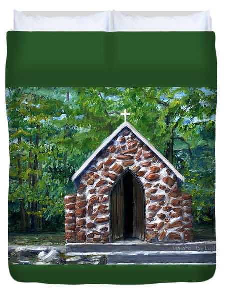 Rock Chapel Desoto Parish, Louisiana Duvet Cover