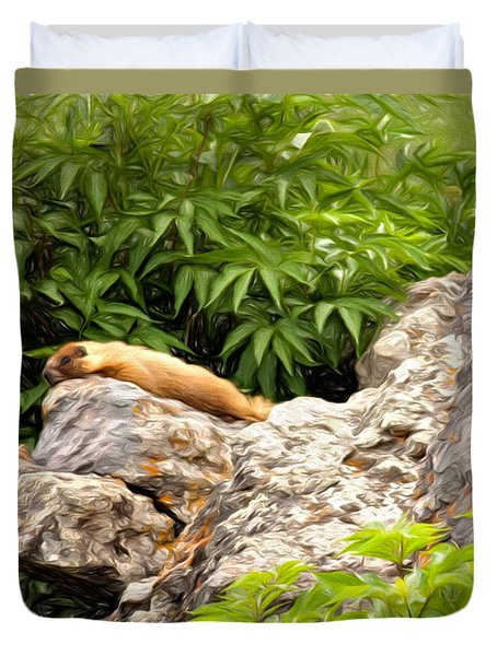 Rock Chuck Duvet Cover