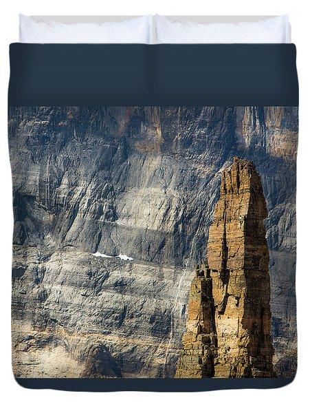 Rock Climber Duvet Cover