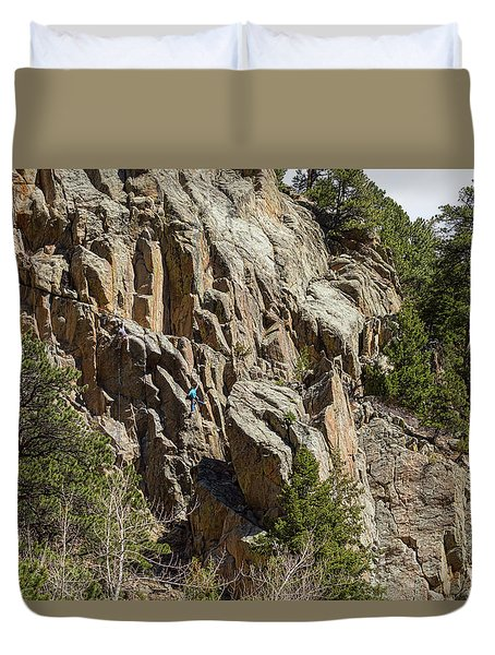 Duvet Cover featuring the photograph Rock Climbers Paradise by James BO Insogna