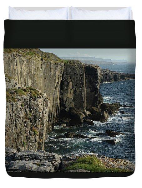 Rock Climbing Burren Duvet Cover