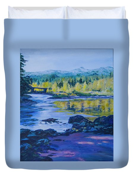 Rock Creek Fishing Hole Duvet Cover