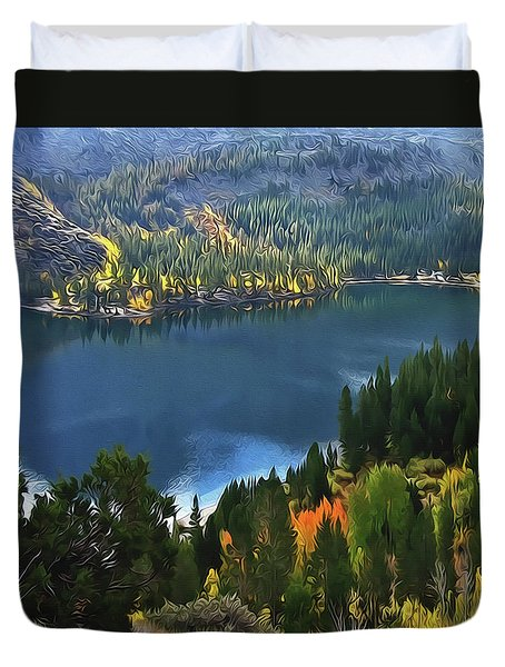 Rock Creek Lake In Fall Duvet Cover