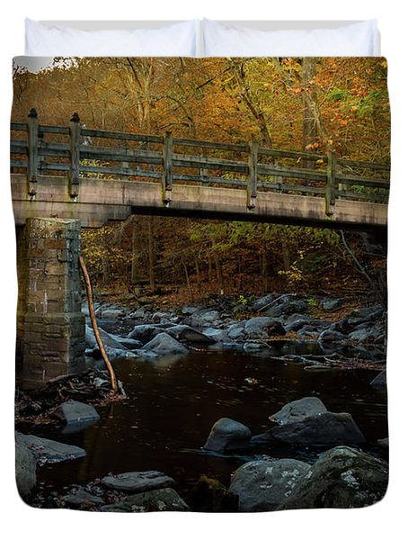 Rock Creek Park Bridge Duvet Cover