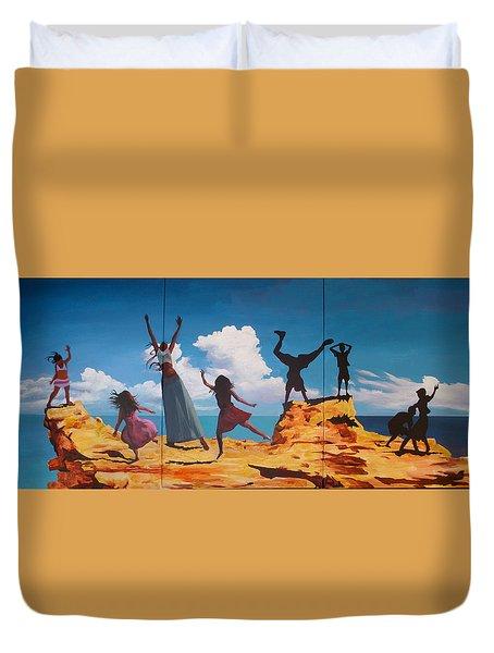 Rock Dancers Duvet Cover by Geoff Greene