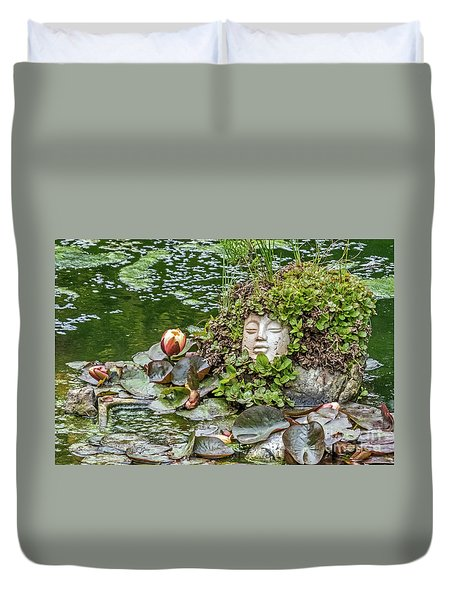 Duvet Cover featuring the photograph Rock Face Revisited by Kate Brown