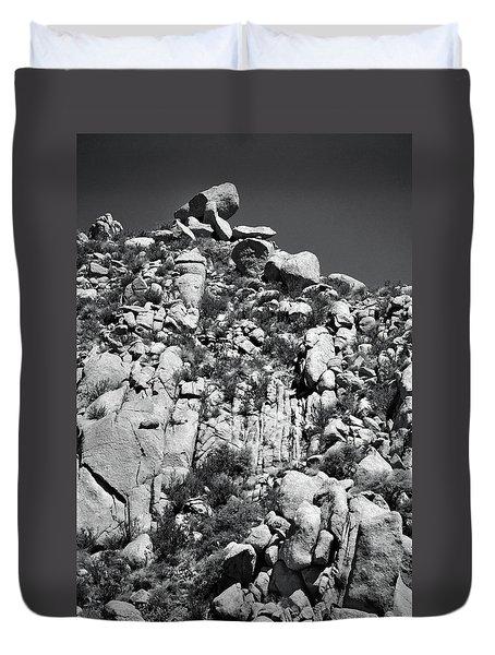 Rock Face Sandia Mountain Duvet Cover
