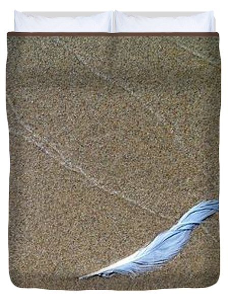 Rock Feather Glass Duvet Cover