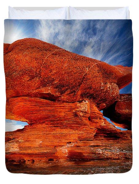 Rock Formation Duvet Cover