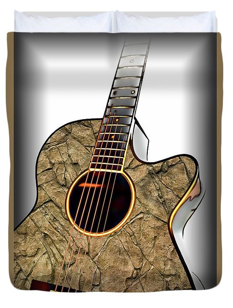 Rock Guitar 1 Duvet Cover