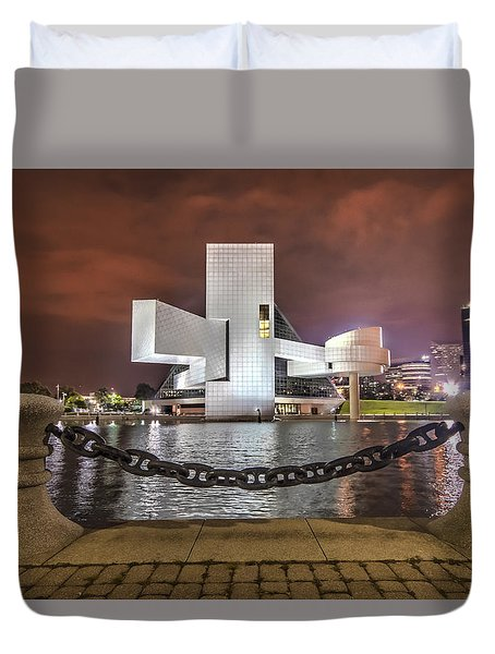 Duvet Cover featuring the photograph Rock Hall And The North Coast by Brent Durken