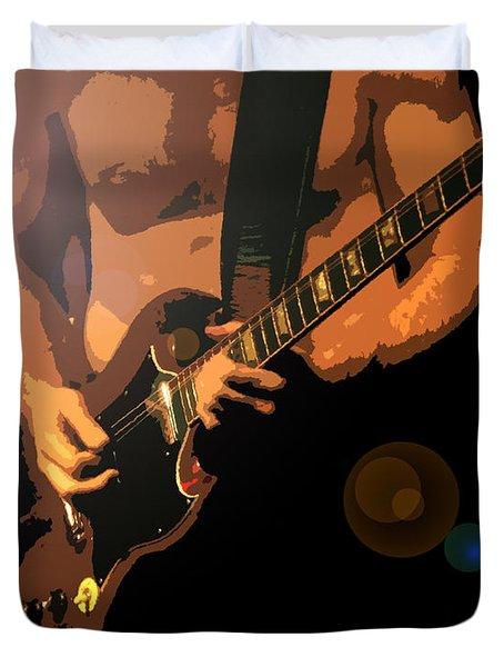 Rock Hero Duvet Cover by David Lee Thompson