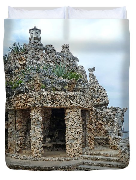 Rock House By The Sea Duvet Cover