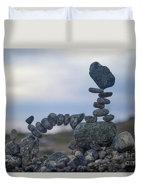 Rock Monster Duvet Cover