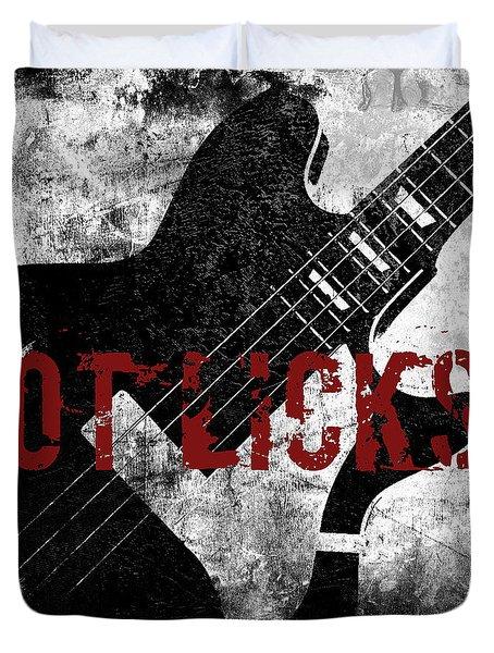 Rock N Roll Guitar Duvet Cover