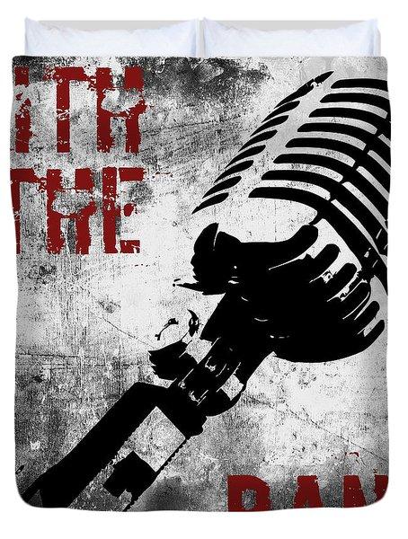 Rock N Roll Microphone  Duvet Cover