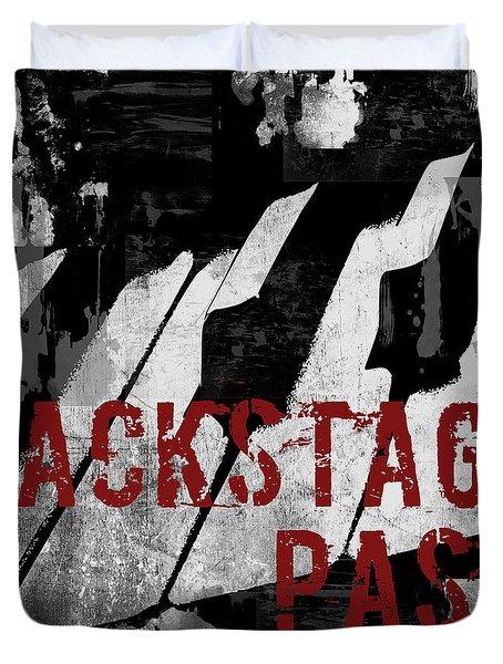Rock N Roll Piano Duvet Cover