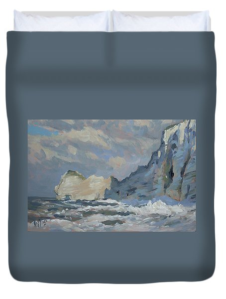 Rock Of Amont Etretat Duvet Cover