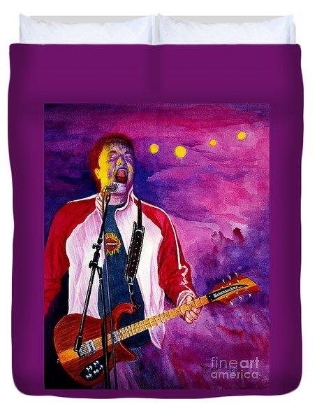 Rock On Tom Duvet Cover by Nancy Cupp