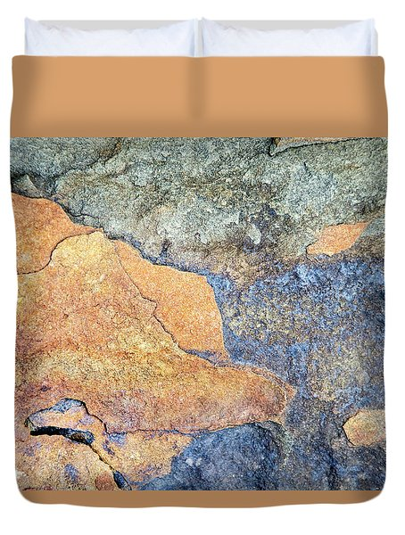 Duvet Cover featuring the photograph Rock Pattern by Christina Rollo