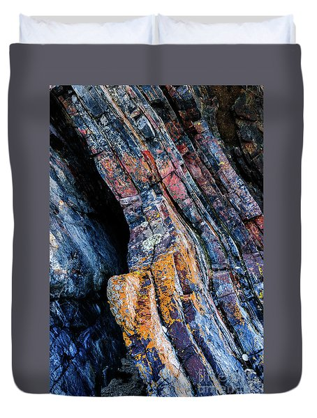 Duvet Cover featuring the photograph Rock Pattern Sc01 by Werner Padarin
