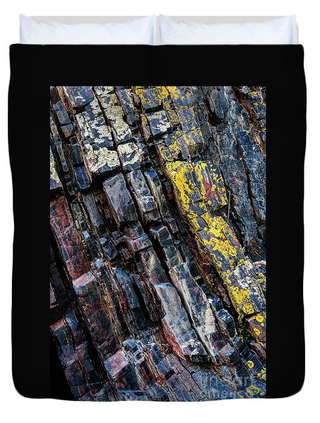 Duvet Cover featuring the photograph Rock Pattern Sc02 by Werner Padarin