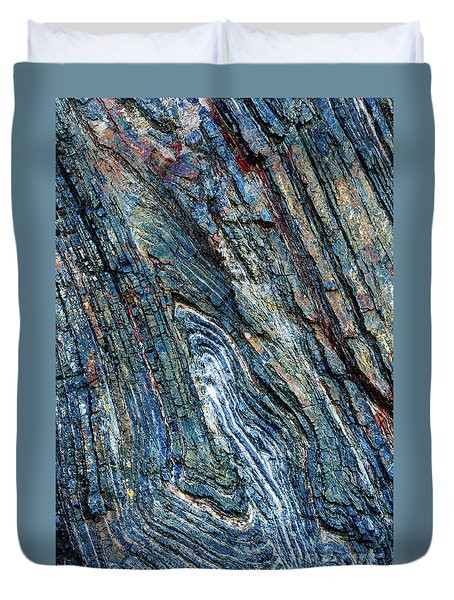 Duvet Cover featuring the photograph Rock Pattern Sc03 by Werner Padarin