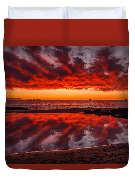 Rock Pool Reflections Duvet Cover