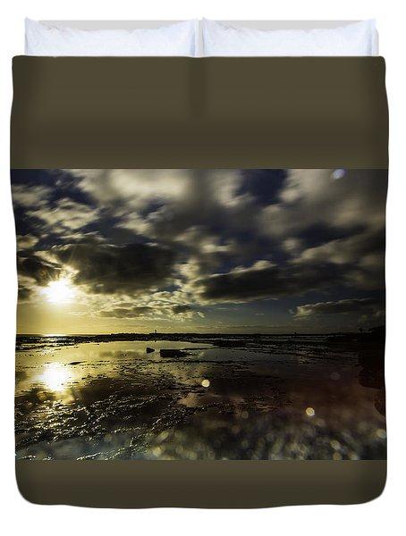 Rock Pool Sunrise Duvet Cover