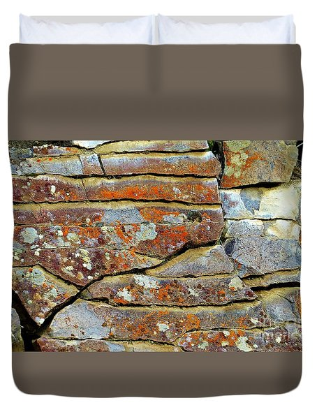Rock Puzzle Duvet Cover by Michele Penner